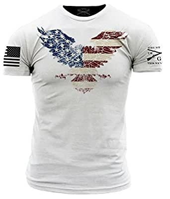 Grunt Style Freedom Eagle Men's T-Shirt, Color White, Size ...