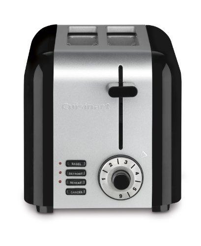 Cuisinart CPT-320 Compact Stainless 2-Slice Toaster, Brushed Stainless (Compact Stainless Toaster Oven compare prices)
