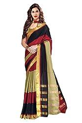 Glory Sarees Women's multi color saree jari101