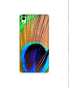 Sony Xperia M4 Aqua ht003 (3) Mobile Case from Mott2 - Krishna Feather Peacock (Limited Time Offers,Please Check the Details Below)