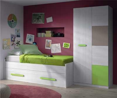 Mobimarket habitaciones juveniles en blanco frontales en for Dormitorios juveniles en amazon