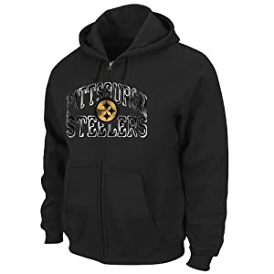 Pittsburgh Steelers Mens Touchback VI Fullzip Hooded Fleece by Majestic by VF