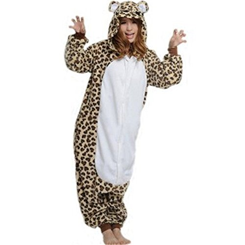 Pajamas Anime Costume Adult Animal Onesie Leopard Bear Cosplay