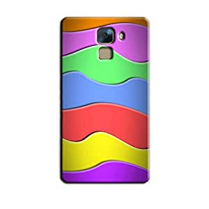 COLORFUL ABSTRACT WAVES BACK COVER HONOR 7
