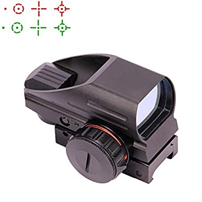 Vokul Tactical Multi Optical Coated Holographic Red and Green Dot Sight Tactical Reflex 4 Different Reticles from Vokul