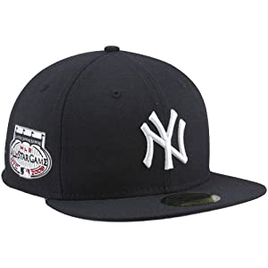 MLB New Era New York Yankees 2008 Cooperstown All-Star Patch 59FIFTY Fitted Hat - Navy Blue (7 5/8)