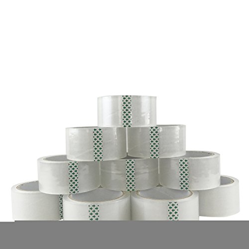 TASOON-12-Roll-Adhesive-Packing-Tape-Sticky-Scotch-Tape-188-x-546Yards-Ultra-Clear-Thick-45Mil