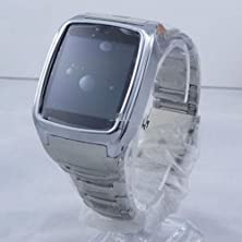 """buy Gd999 Fashion 1.6"""" Touch Screen Quad-Band Watch Phone With Bluetooth/1.3Mp - Silvery"""