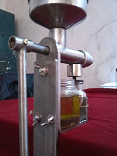 Hand Crank Oil Press,Oil Expeller,Household Stainless Steel Oil Extractor ,Oil Machine Manual (Oil Extractor Juicer compare prices)