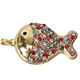 Generic 16 GB USB 2.0 Multi-colored Glitter Rhinestone Fish Style Flash Drive Flash Disk Pen Drive