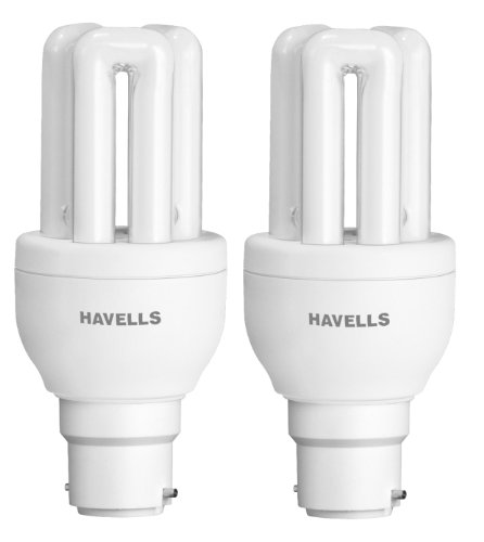 Havells B22 8W CFL Bulb (Cool Day Light, Pack of 2) Image