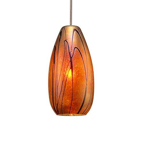 WAC Lighting MP-LED954-IR/BN Willow LED Pendant Fixture with Brushed Nickel Canopy, One Size, Iridescent