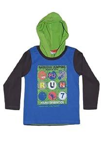 Blue Seven T-shirt with hood