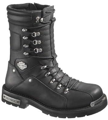 Harley-Davidson Mens Alsten Motorcycle Boot, Black, D96018 by Harley-Davidson