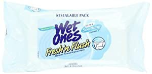 Fresh 'n Flush By Wet Ones Personal Hygiene Wipes Refill, 48-Count (Pack of 6)