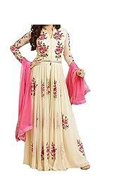 MR Fashion women''s Embroidered Heavy new pattan Work White Salwar Suit