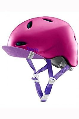 Bern Matte Fuchsia 2015 Berkeley Zipmold-Flip Visor Womens MTB Helmet by Bern