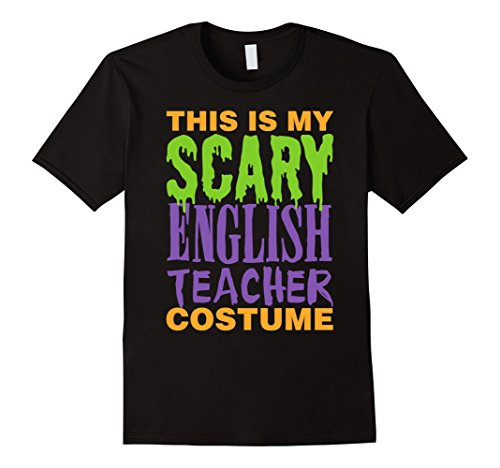 [Men's English Teacher Scary Halloween Costume T-Shirt 3XL Black] (Costumes For Teachers)