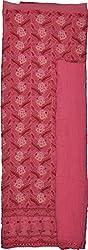 Knool Women's Cotton and Pure Chiffon Unstitched Salwar Suit (CCPDM03DPNK, Dark Pink)
