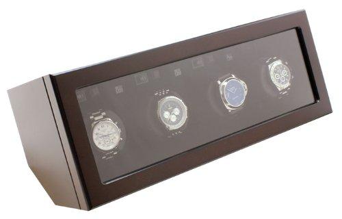 Heiden  Prestige Automatic Quad 4 Brown Watch Winder