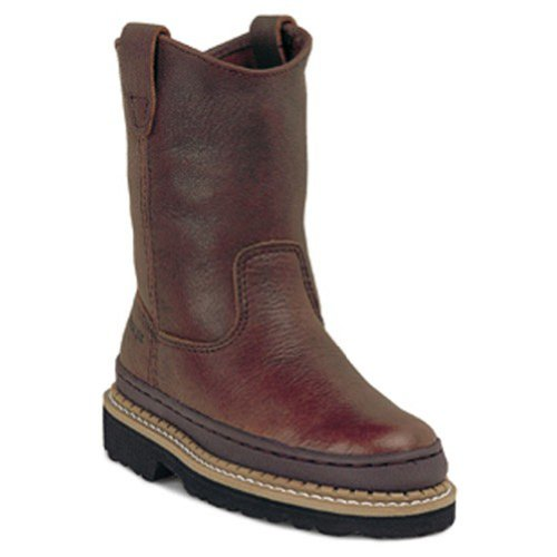 Georgia G204 Youth's Little Giant Wellington Boot Soggy Brown Child's 2.5 M US