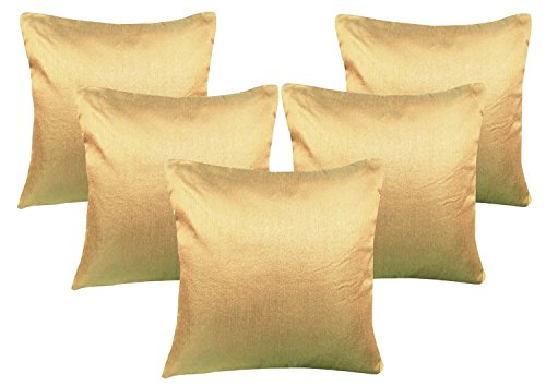 Beige Cushion Covers Set of 5 (16x16)