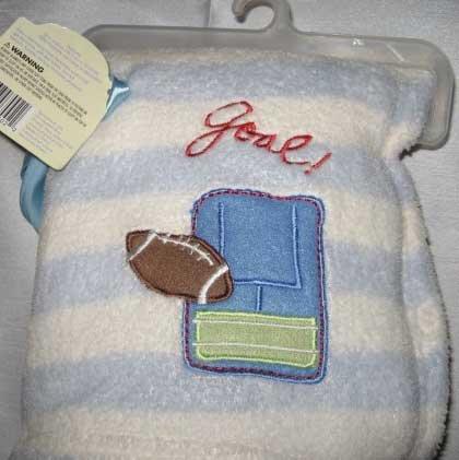 "Sumersault ""Goal!"" Baby Blanket"