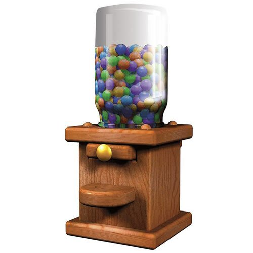 wood gumball machine