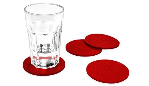 FILU-Filzuntersetzer-rund-8er-Pack-Farbe-whlbar-rot-Untersetzer-aus-Filz-fr-Tisch-und-Bar-als-Glasuntersetzer-Getrnkeuntersetzer-fr-Glas-und-Glser