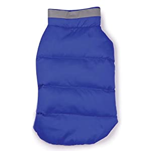 Casual Canine Polyester The North Paw Puffy Dog Vest, XX-Small, Blue
