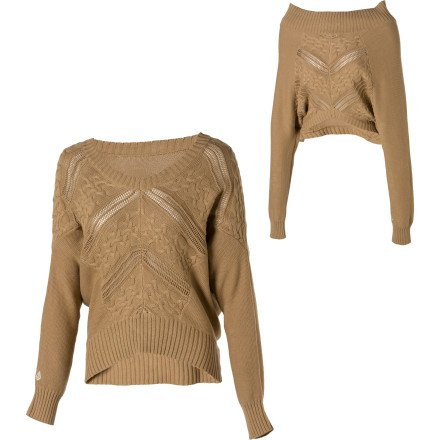 Volcom Late Night Convertible Sweater - Women's Khaki, L