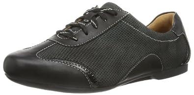 Clarks Goa Beach GTX 203593544 Damen Sneaker, Schwarz (Black Leather), EU 35.5