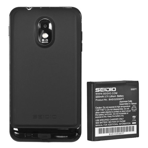 Seidio Bacy32Ssept-Bk Innocell 3200Mah Extended Life Battery For Samsung Epic 4G Touch- Retail Packaging - Black