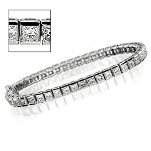 Princess Diamond Eternity Bracelet - 16.80 ct