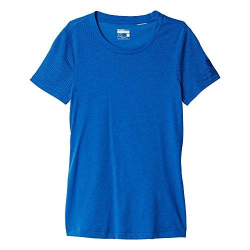 Adidas Climacool Aeroknit Women's T-Shirt - SS16 - Small - Blue