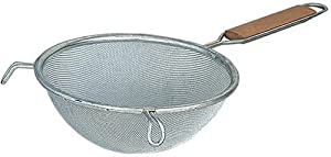 Browne Foodservice 8095 Fine Double Mesh Strainer with Wood Handle, 6-3 4-Inch by Browne Foodservice
