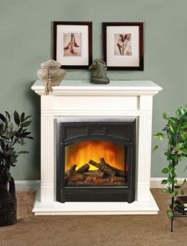 """Mini Electric Fireplace With Heater And Remote Control - 21"""""""