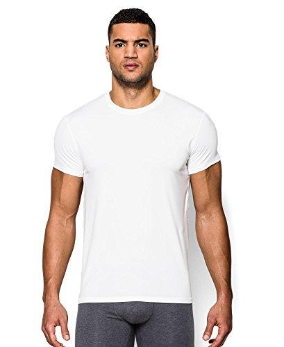 Under Armour Men's The Original UA Fitted Crew Undershirt Medium White