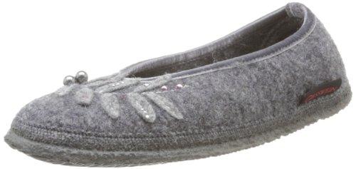 Giesswein Lenne Slippers Womens Gray Grau (schiefer 017) Size: 4 (37 EU)