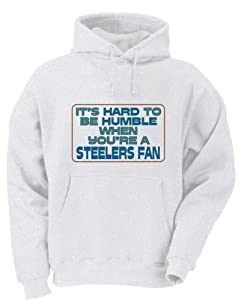 It's hard to be humble when you're a Steelers Fan Youth Hooded Sweatshirt (for Kids) in Various Colors