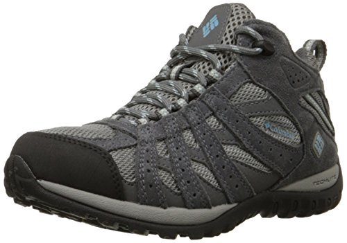 Columbia Redmond Mid Waterproof Scarpe da Trekking, Donna, Grigio(Light Grey/Sky Blue 060), 39.5 EU