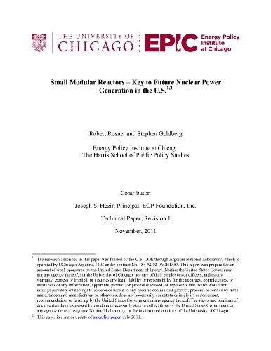 Small Modular Reactors - Key to Future Nuclear Power Generation in the U.S. [Loose Leaf Publication] (Small Modular Reactors compare prices)