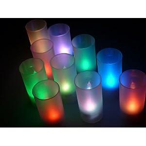 七変化! LED キャンドル ライト 10個セット