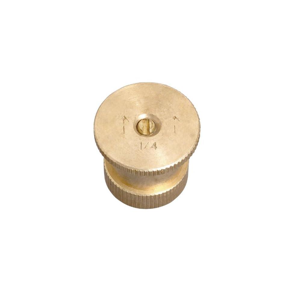 Orbit 15 Radius Quarter Pattern Twin Spray Brass Sprinkler head