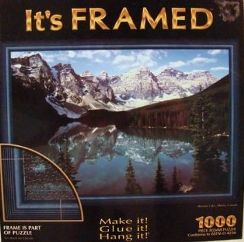 It's Framed Moraine Lake Alberta Canada 1000pc Set Puzzle - 1