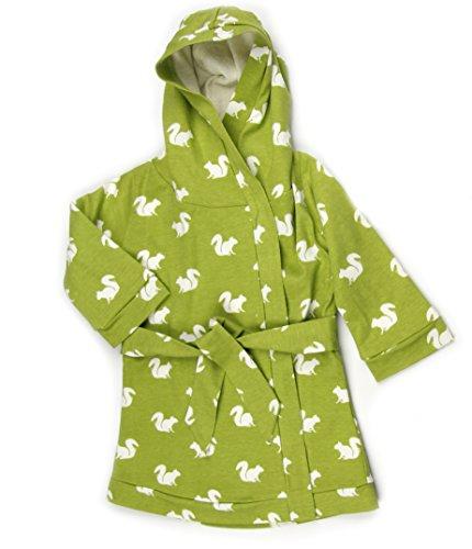 Kate Quinn Organic Unisex-baby Robe, 12-24M (Green Squirrel)