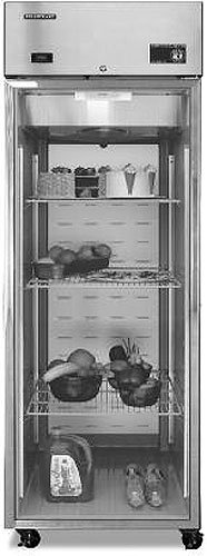 Hoshizaki Cr1B-Fg, 1 Door, 23 Cu Ft Glass Door Refrigerator front-16922