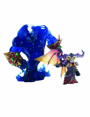 Picture of Diamond Comics World of Warcraft: Premium Series 2: Gnome Warlock: Valdremar with Voidwalker Voyd Action Figure (B002C8VXZY) (Diamond Comics Action Figures)