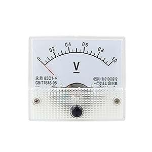 85C1 DC 0-1.0V Rectangle Analog Volt Panel Meter Gauge