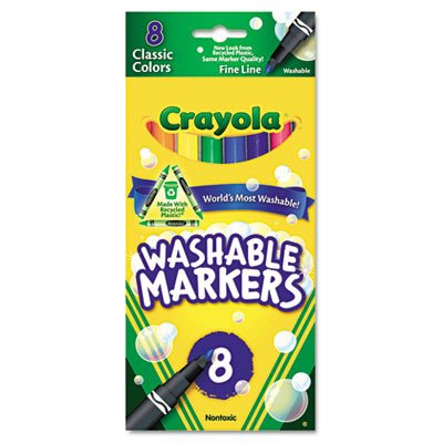 Washable Fine Point Markers (8/Pack) [Set of 2] - 1